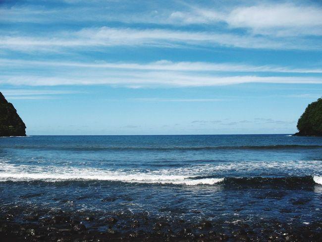 Maui Maui Hawaii Mauiphotography Blue Wave Sea And Sky Sea Seascape Beach Beach Photography Black Sand Beach