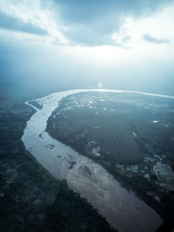 Suvarnarekha River, Arieal photography Aerial View Sea No People Cloud - Sky Cold Temperature Water Outdoors Landscape Scenics Nature Beauty In Nature