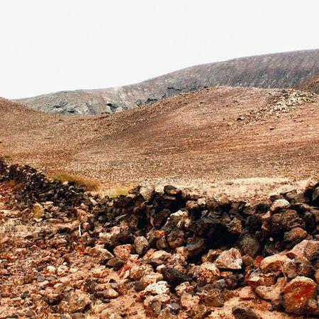Muro Desértico Corralejo Canarias Desert Landscape Stonewall Color Photography