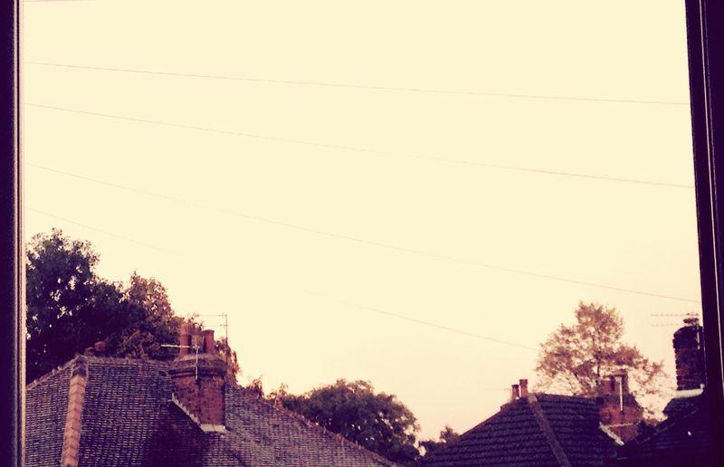 Sky Rain Rainy Rainy Days Rooftop Wet Roof Clouds Faded Sky
