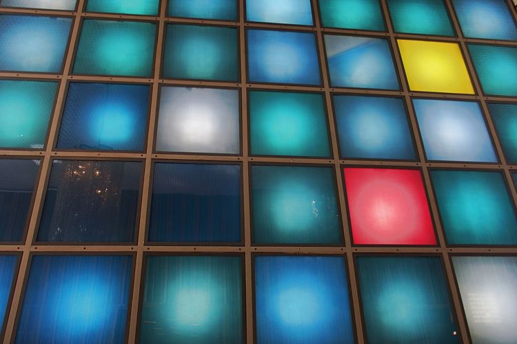 Mosaic Backgrounds Close-up Day Full Frame Glas Tiles Illuminated Indoors  Multi Colored No People