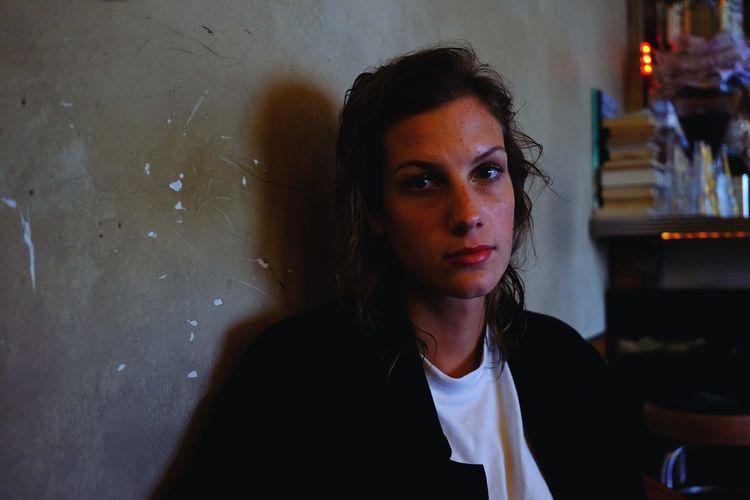 EyeEm Selects Portrait Of A Woman Not Impressed Café Moments Portrait Fujifilm_xseries