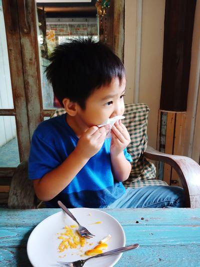 yummy Child Sitting Drinking Food And Drink Drinking Straw Milkshake