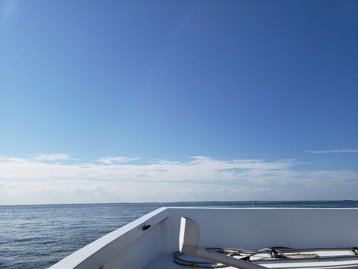 Maryland Chesapeake Bay Bay Cruise Barge Tourism Beauty In Nature Tranquility Tranquil Scene Reflection Water Nautical Vessel Blue Yacht Sky Horizon Over Water Scenics Idyllic Calm Coast Boat Remote Shore Water Vehicle Yachting