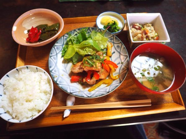 Kyoto Japan Rojiusagi Food Chicken Japanese Food Rice Olympus PEN-F 京都 日本 ろじうさぎ 昼ごはん 日本食