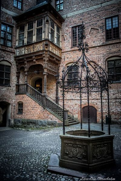 Entrance to Gripsholms castle Castle Gripsholm Mariefred Tornebohmphoto