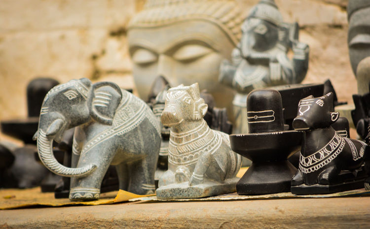 Hand Made art of Indian God Sculptures EyeEm Best Shots EyeEm Nature Lover EyeEmNewHere Indian Culture  Ancient Ancient Civilization Art And Craft Basavanagudi Close-up Day Elephant Ganapati Godess History No People Outdoors Sculpture Shiva Shiva Lingam Statue