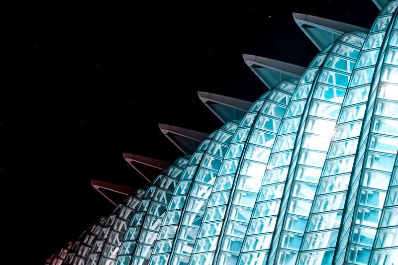 Valencia by night - 3:33 3⃣3⃣3⃣ Architecture Calatrava Ciutat De Les Arts I Les Ciències Modern Architecture Night Lights Night Photography Red Valencia, Spain Water Reflections Blacksky Blue Bs Building Exterior Bulb Calatrava Style Calatravaarchitecture Calatravabridge Glass Night Reflections Sky Totalwhite Vision Water The Architect - 2018 EyeEm Awards