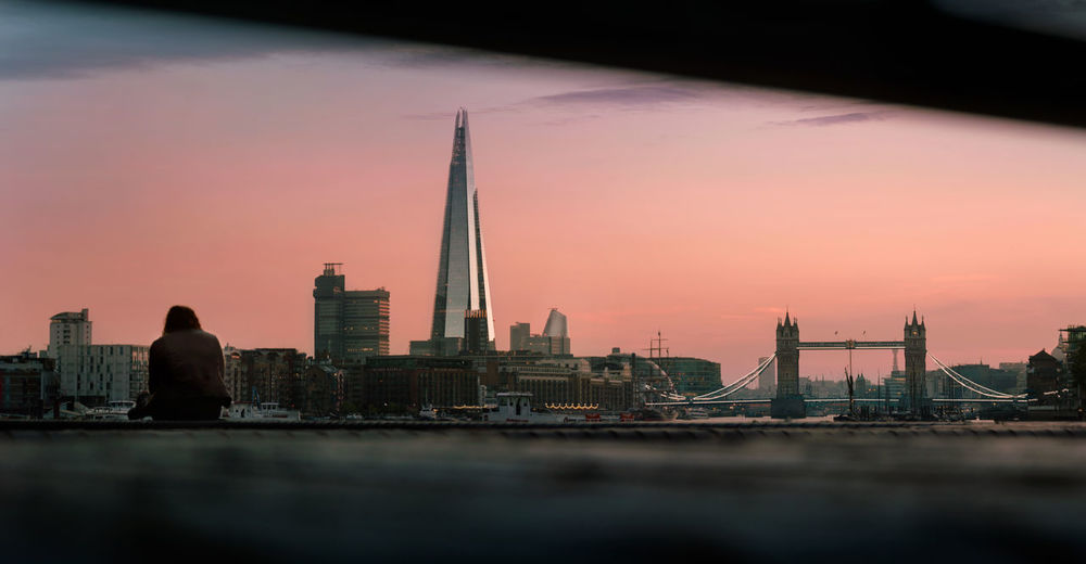 Picture taken near Bermondsey of London's skyline at dusk. Holiday London Sunset_collection Tower Bridge  Architecture Building Building Exterior Built Structure City Cityscape Nature No People Office Building Exterior Outdoors Place Of Worship River Sky Skyscraper Spire  Sunset Tall - High Tourism Tower Travel Travel Destinations