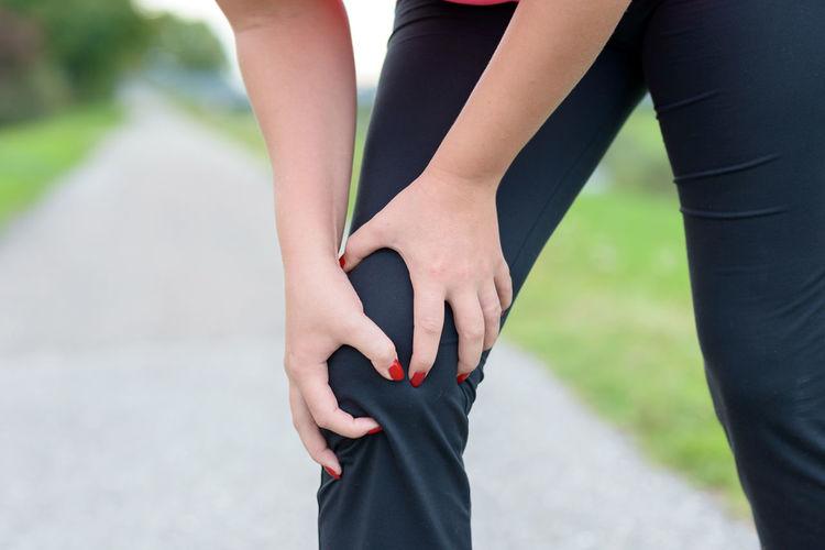 Woman Injury Knee Painful Women