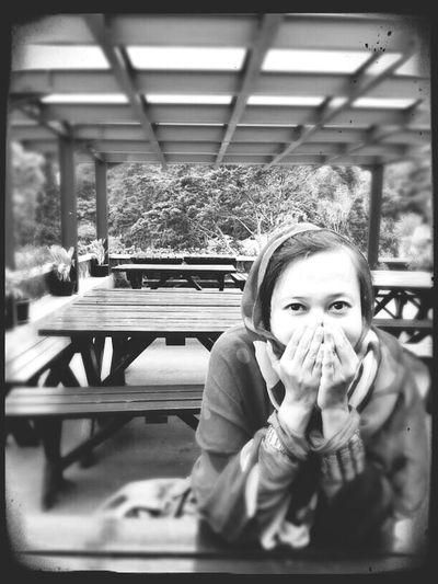 a year ago.. That's Me Hanging Out Enjoying Life Black & White