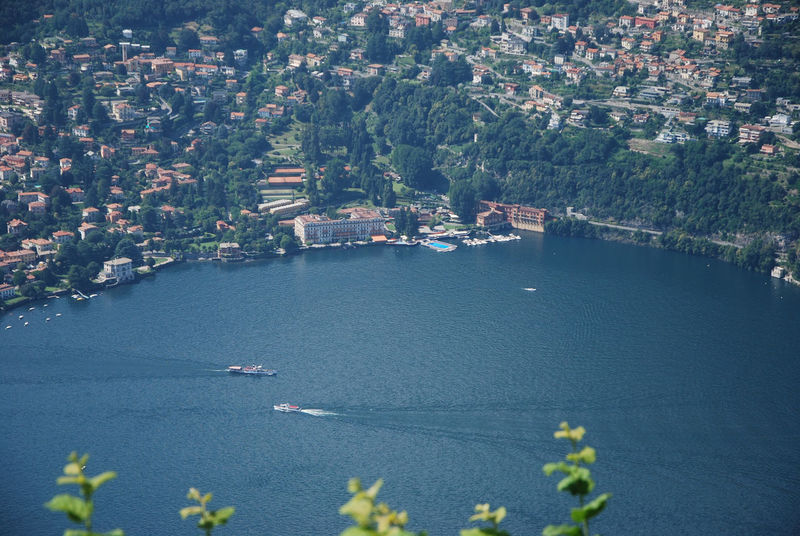 Villa d'Este, Cernobbio and the Lario - Brunate, Como, Italy. Architecture Brunate Cernobbio City Cityscape Como High Angle View Italia Italy Lago Di Como Lake Lario Lombardia Lombardy No People Outdoors Scenics Transportation Villa D'Este Water Waterfront