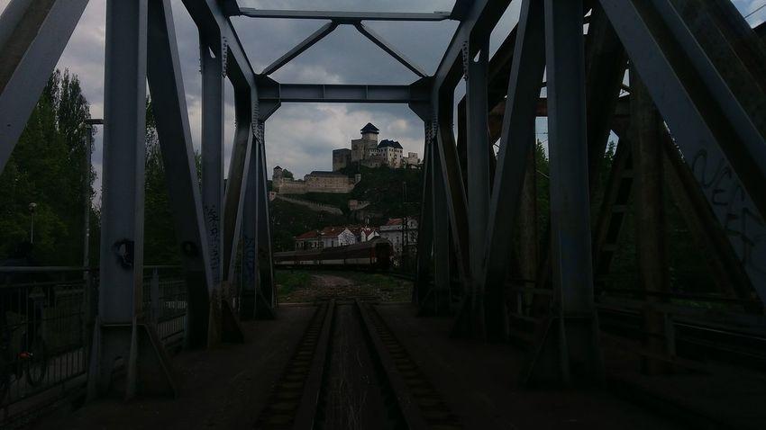 Castle Trencin Bridge Train Town