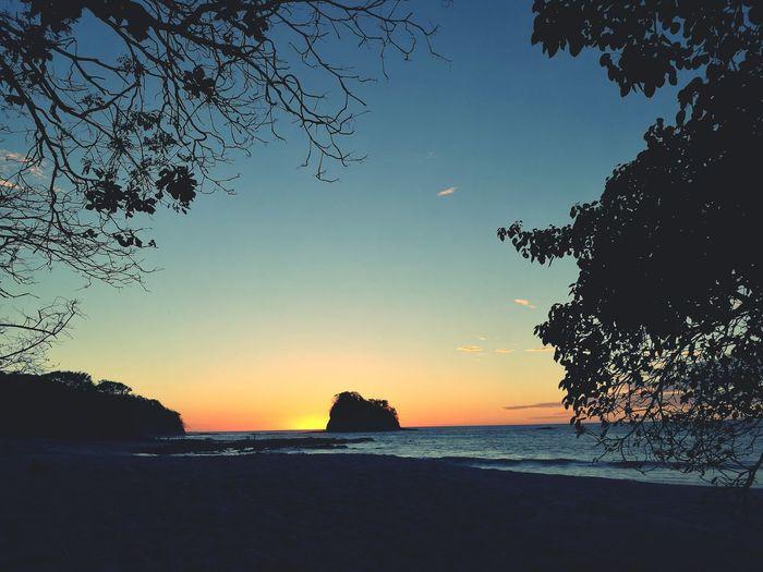 Sunset Sea Beach Outdoors Sky Nature Santa Cruz Pura Vida Bahía De Los Piratas Costa Rica Guanacaste  Playa