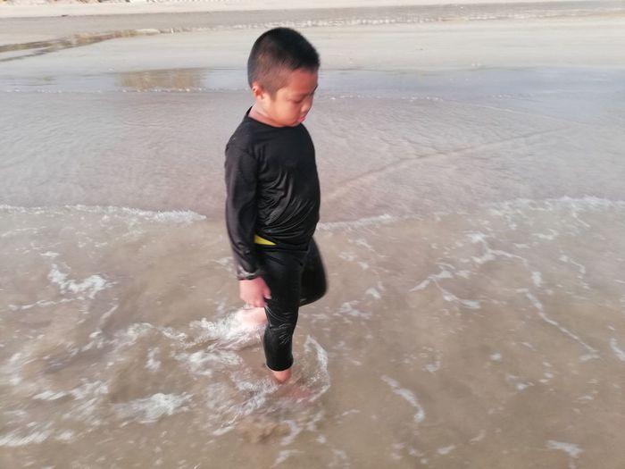 Children enjoy on summer trip 2019,หาดเจ้าหลาว Achi2019