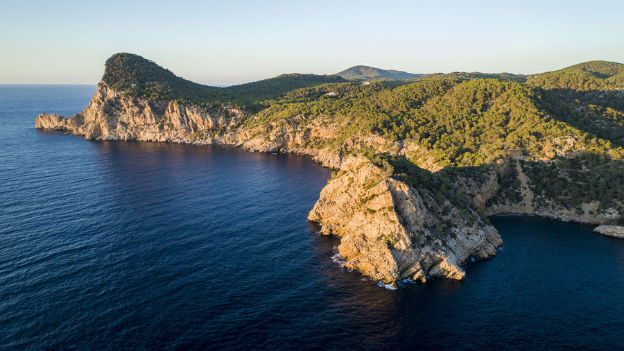 Beautiful Nature Drone  From Above  Ibiza Lost In The Landscape SPAIN Aerial Aero Bluewater Cliff Day Dronephotography Hill Landscape Mountain Nature No People Sea Sea And Sky Sunrise Water
