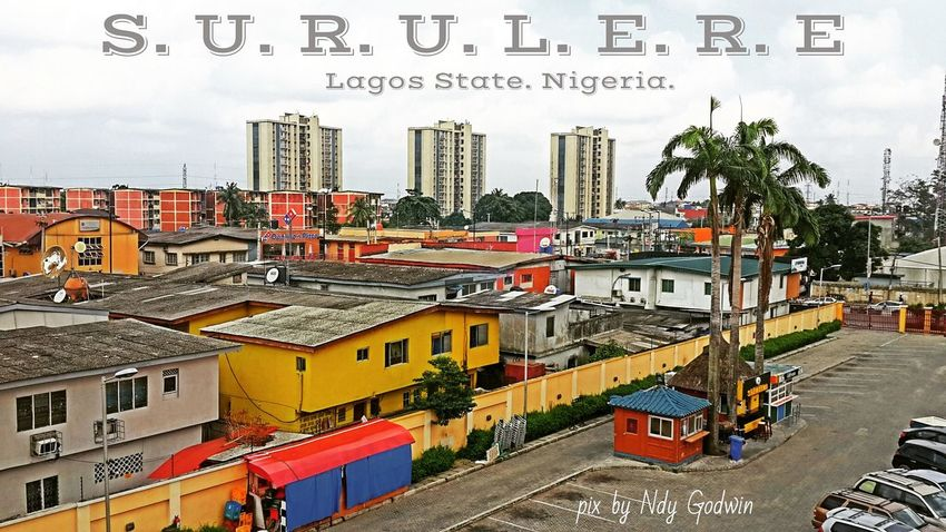 The amazing view of Surulere district, Lagos Nigeria.. Samsung Galaxy S5 Surulere Cityscape Outdoors Rooftop First Eyeem Photo Adapted To The City EyeEmNewHere Adapted To The City Adapted To The City