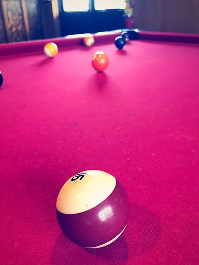 Color splash Funtimes Colorful EyeEm Best Shots Amazing Colors IPhoneography Colorsplash Purple Color Ball Pool Ball Table Sport Indoors  No People Sphere High Angle View Leisure Games Pool Table Pool - Cue Sport Pink Color Pool Cue Purple Sports Equipment Still Life Relaxation