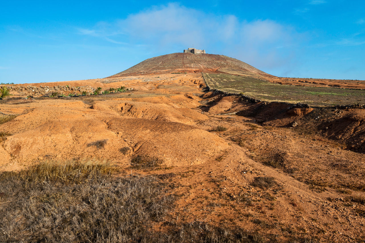 Distant View Of Old Castle On Hill At Canary Islands