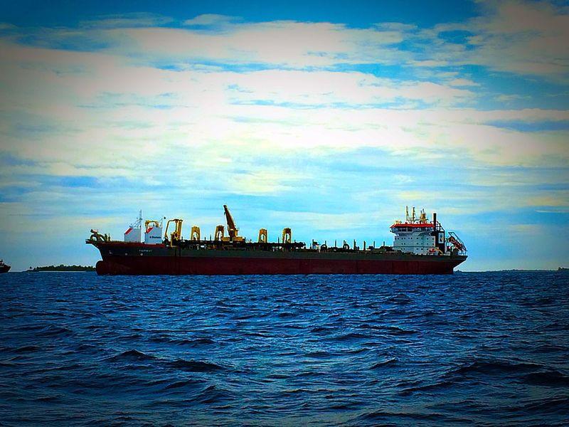 Taking Photos Boat Sea And Sky Maldives