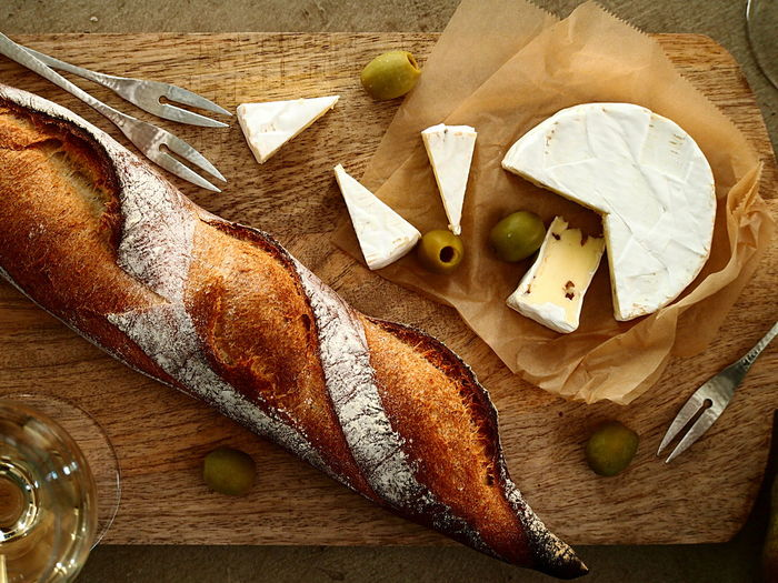 Camembert Cheese & Baguette on Board Afternoon Baguette Lifestyle Relaxing Weekend Wine Wine Moments Bread Cheese Close-up Cutting Board Food Food And Drink Foodart Foodstyling Healthy Eating High Angle View Kitchen Knife On The Table Ready-to-eat Table Wood - Material Food Stories