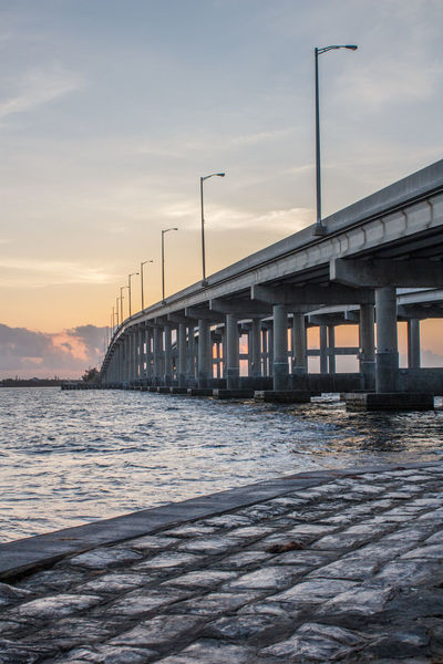 Bridge abutment Architecture Bridge Bridge - Man Made Structure Bridge Photography Bridge View Indian River Light Posts Transportation Dawn Of A New Day First Light First Light Of The Day