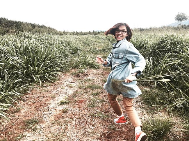 Wind girl Childhood Child Smiling Nature Grass Wild Happiness Running Travel Field Gonegirl Portrait