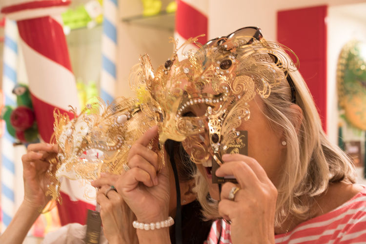 A Day in Venice Close-up Costume Focus On Foreground Having Fun Headshot Indoors  Leisure Activity Travel Destinations Travel Photography Venetian Mask Women