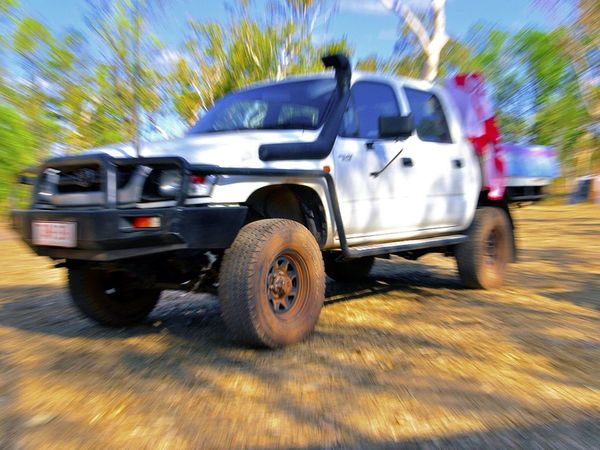 4wheel Drive @ Gunlom 4wheel 4x4 Hilux Zoom Burst