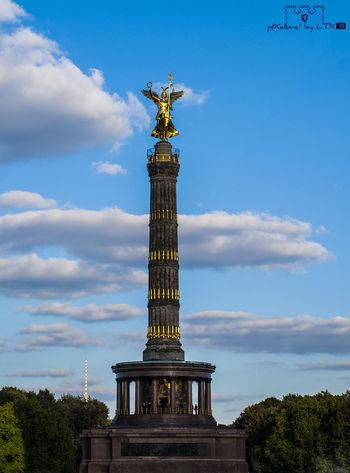 Gloria, Viktoria...und Else, die ist auch schon da... Berlin Clouds And Sky Architecture Berliner Ansichten Tiergarten Historical Sights Goldelse Daylight Historical My Fuckin Berlin