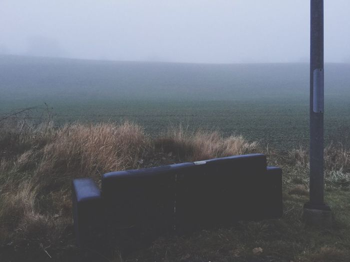 Nature Tranquility Field Grass Scenics No People Sky Beauty In Nature Day Outdoors Tranquil Scene Fog Couchsurfing