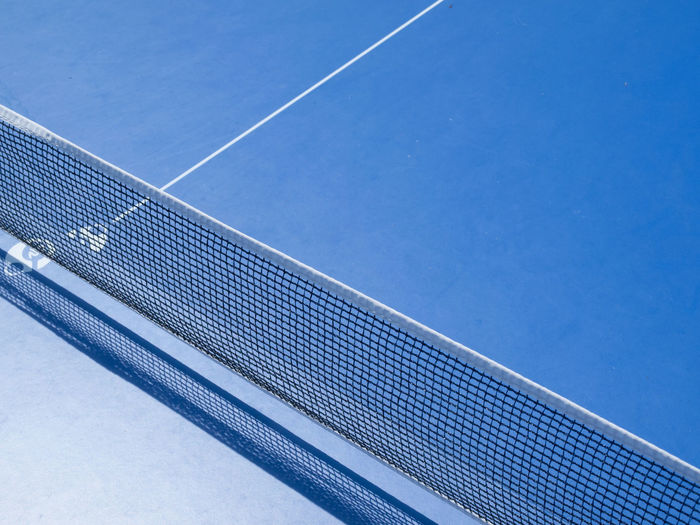 High angle view of net on court