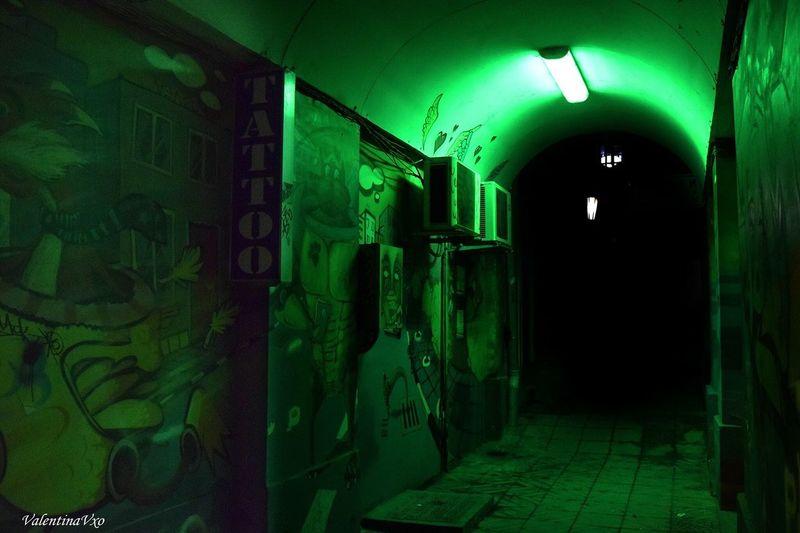 Darkness Green Color Architecture Night Nightphotography Darkness First Eyeem Photo