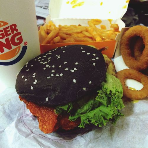 BK Charcoal Black! Fries Burgerking
