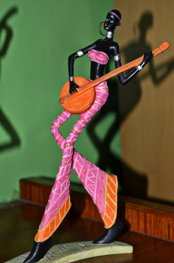 African African Beauty African Figurine Banjo Banjo Player Close-up Day Indoors  No People