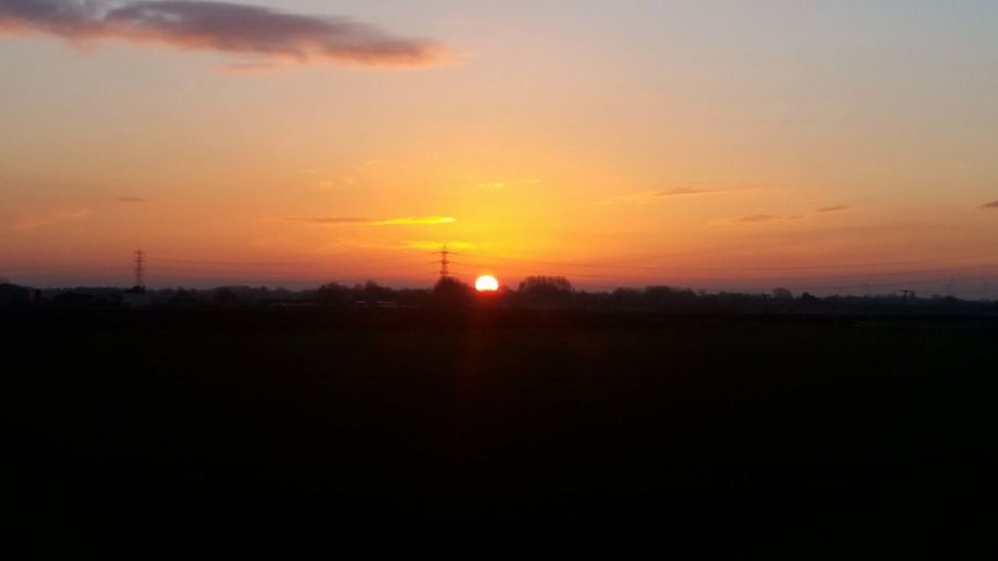 Sunrise over preston
