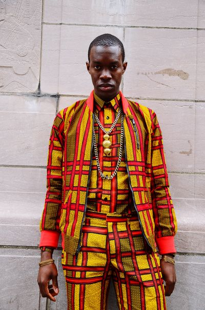 Xavier from the Accessorizing Xavier shoot / Central Park, New York Africanfashion Mensstyle Menswear Mensfashion One Person Front View Standing Three Quarter Length Clothing Portrait Redefining Menswear
