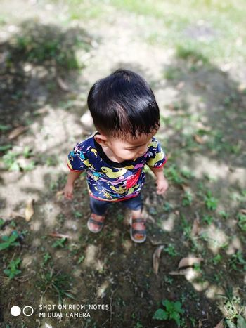 little boy EyeEmNewHere Child Childhood Full Length Portrait High Angle View