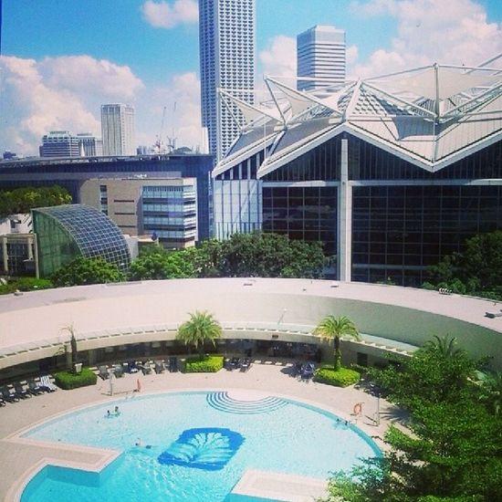 Goooood Sunday morning! Beautiful weather. Skyscraper Panpacificsingapore Beautifulweather Sunday travellerspalm