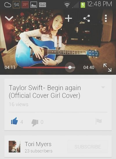 Go check out my newest cover on YouTube :) Youtube Covergirl Acoustic Guitar Taylor Swift #subscribe