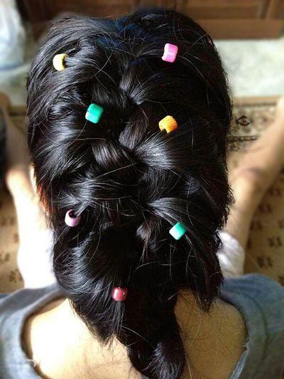 my hair. no filter. France Braid Hair Portrait Hairstyle