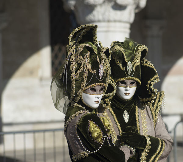 Women wearing masks during carnival