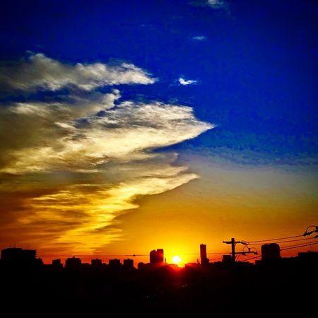 昨晩からナゾの腹痛に見舞われたので本日は自宅待機(>_<) Sunset Sunshine Sun Sony Hx400v Chiba Makuhari