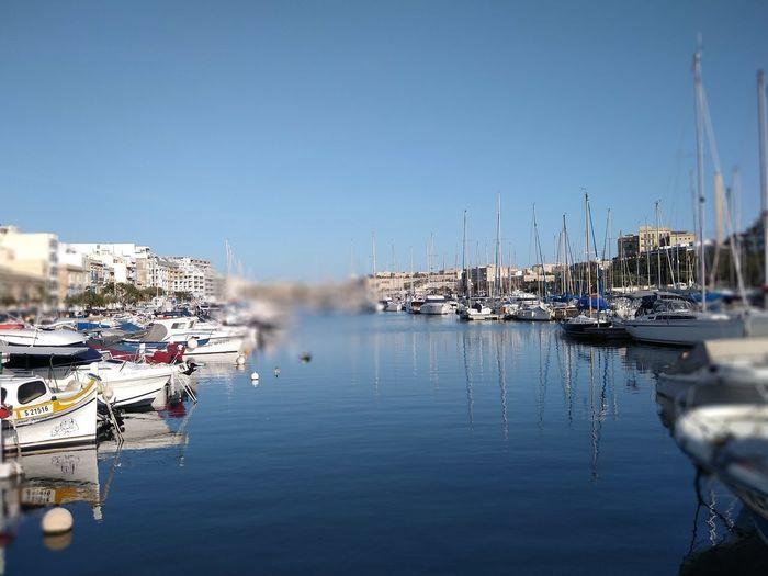 Msida Malta Marina Mediterranean  Mediterranean Sea Nautical Vessel Transportation Water Moored Mode Of Transportation Sailboat Harbor Waterfront Reflection Sky No People Nature Yacht Port Clear Sky
