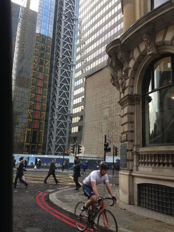 Street Photography among the High Rise Offices of London City . Unseen London Cycling Architecture Facelift