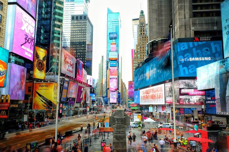 NYC New York New York City New York ❤ TimesSquare Times Square NYC Times Square New York City Photos New York Street Photography Lights Colour Billboard People Crowd Red Steps New York Photo September 2017 Lost In The Landscape Connected By Travel Connected By Travel
