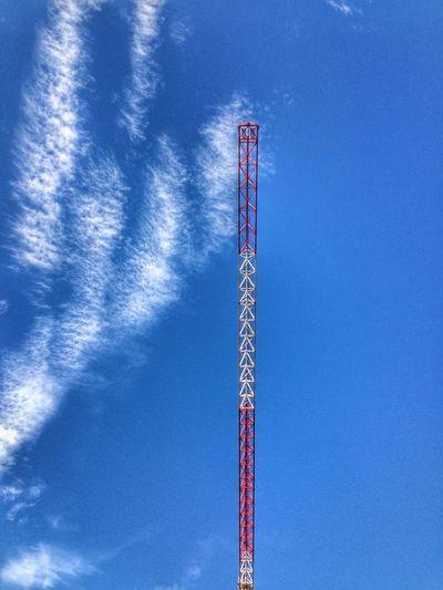 Happy saturday !!! Crane Urban Geometry Sky Blue Sky Clouds Minimalism