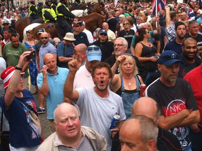 English Defence League. (EDL). Free Tommy Robinson Protest. Whitehall. London. 09/05/2018 EDL London Whitehall Brexit Protesters Protest Politics And Government English Defence League London News Steve Merrick Stevesevilempire Metropolitan Police Free Tommy Robinson Racism Crowd Large Group Of People Group Of People Real People Celebration Sport Day