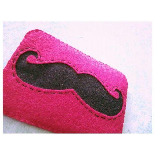 Hi Helo Moustache. FeltCraft Feltproject TheSiblingsArt Malaysiancrafter Sew Handmade Case