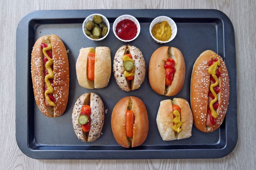 Home cooked hotdogs Hotdogs Home Cooked Food Fastfood Topview Visual Feast